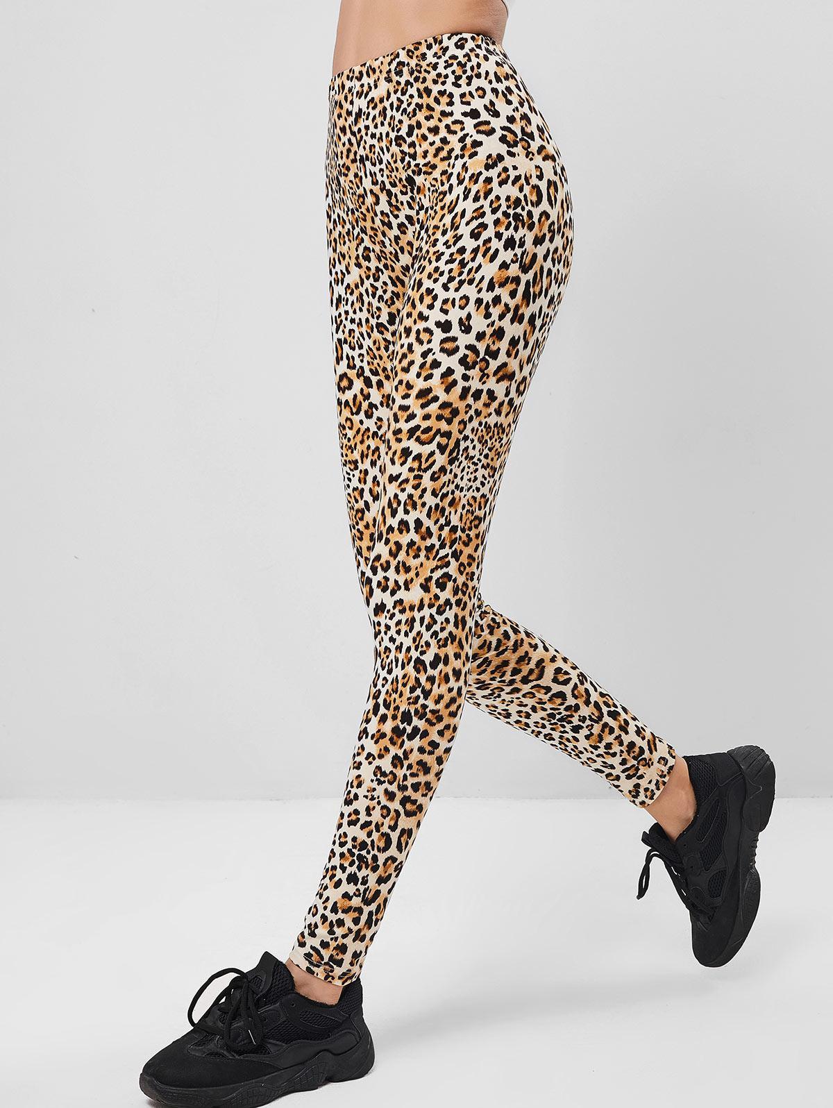 ZAFUL Leopard High Waisted Skinny Leggings thumbnail