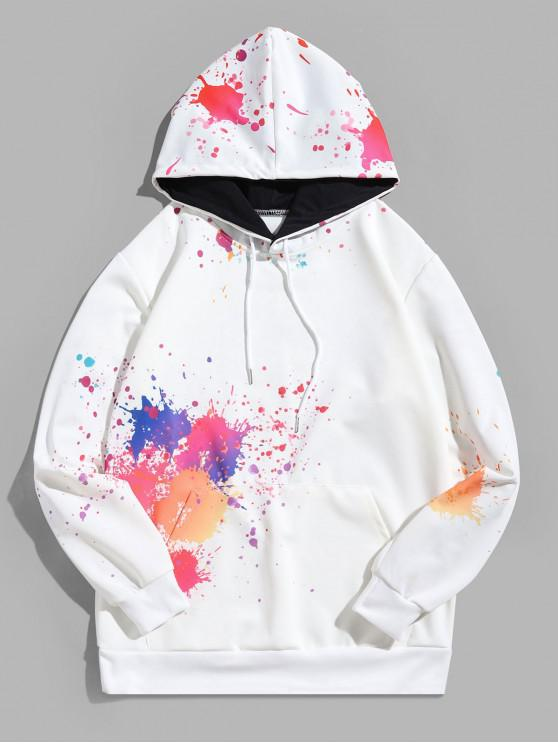 hot Halloween Splash Painting Print Kangaroo Pocket Hoodie - MULTI 4XL