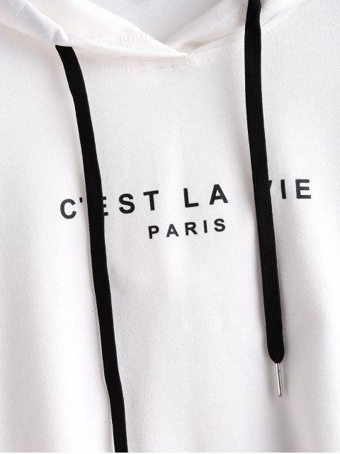 Sudadera corta con capucha ZAFUL PARIS - Blanco S Mobile