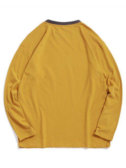 Panda boxeo de impresión en el pecho Camiseta del bolsillo - Amarilla de Abeja  XS Mobile