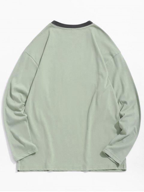Panda boxeo de impresión en el pecho Camiseta del bolsillo - Verde Oscuro de Mar XS Mobile
