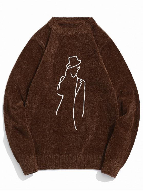 Jersey de cuello redondo con estampado de personajes - Calamar S
