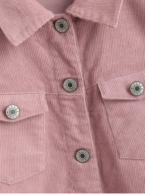 Chaqueta de pana corta con botones ZAFUL - Rosa Rosada L Mobile