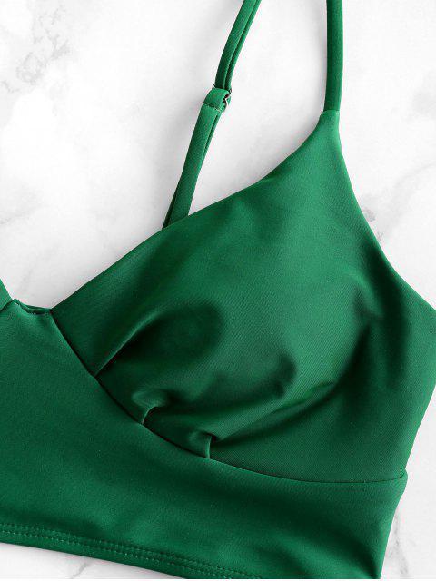 ZAFUL Cami Llanura de Control de Abdomen Tankini del traje de baño - Mar Verde Mediana 2XL Mobile