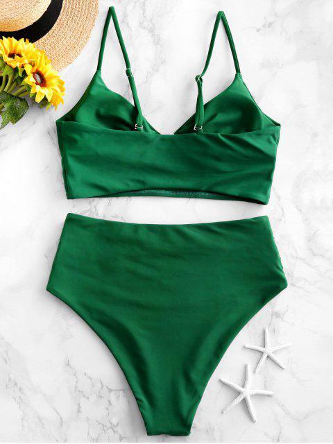 ZAFUL Cami Llanura de Control de Abdomen Tankini del traje de baño - Mar Verde Mediana L Mobile