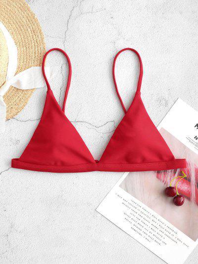 ZAFUL Haut De Bikini Plongeant à Bretelle Fine - Rouge M