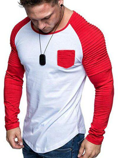 Camiseta Tipo Túnica Manga Raglán Plisada