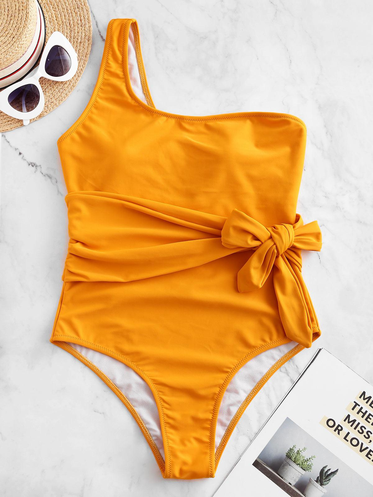 ZAFUL One Shoulder Belted One-piece Swimsuit фото