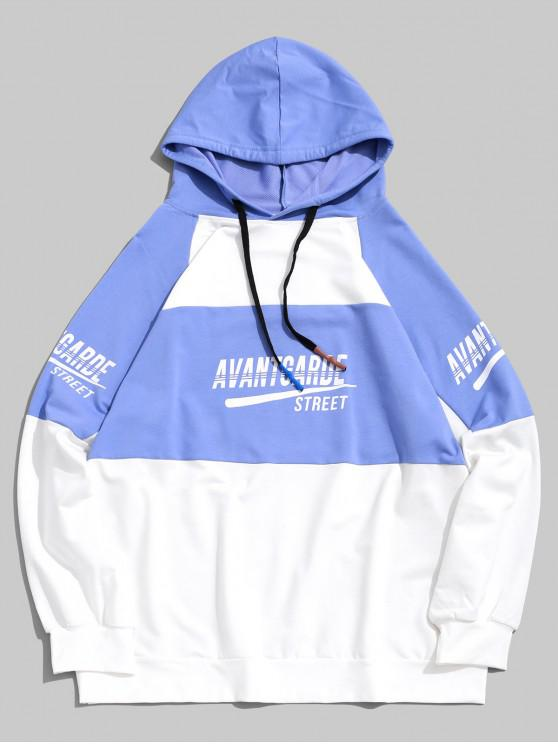 lady Hit Color Graphic Pullover Hoodie - MULTI L