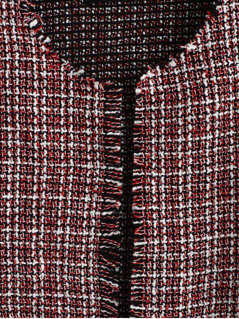 ZAFUL Veste Ouverte en Avant à Ourlet Effrangé en Tweed - Multi L Mobile