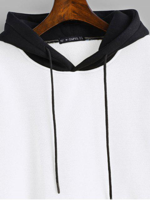 best ZAFUL Pouch Pocket Fleece Pullover Hoodie - WHITE M Mobile