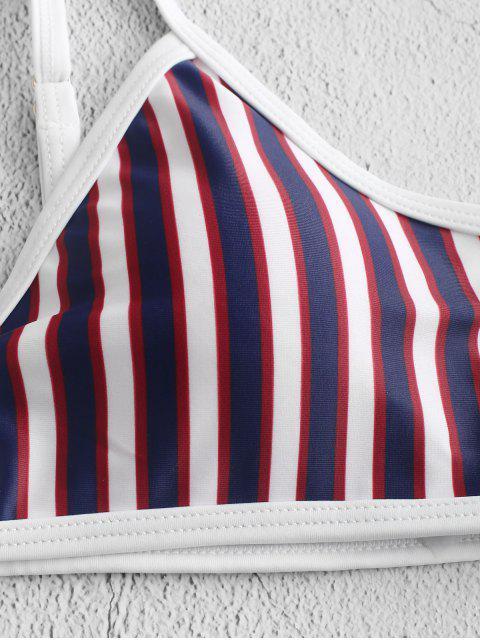 unique ZAFUL Striped Keyhole Cami Bikini Swimwear - MULTI-A M Mobile
