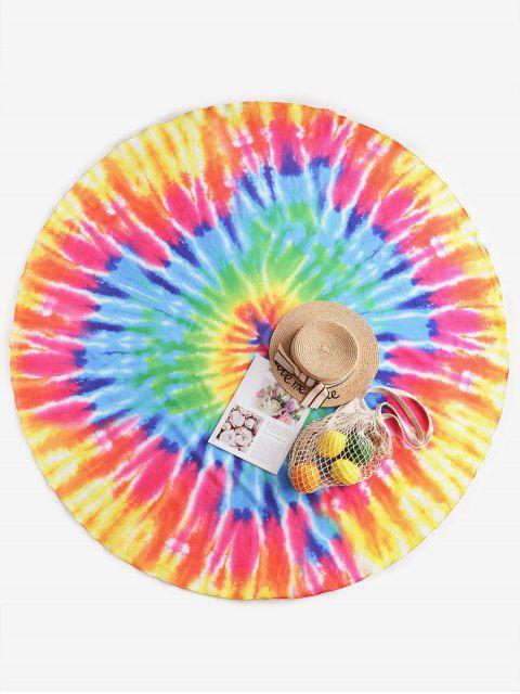 ZAFUL Красочный принт Tie Dye Круглый Пляжный Платок - Многоцветный-A Один размер Mobile