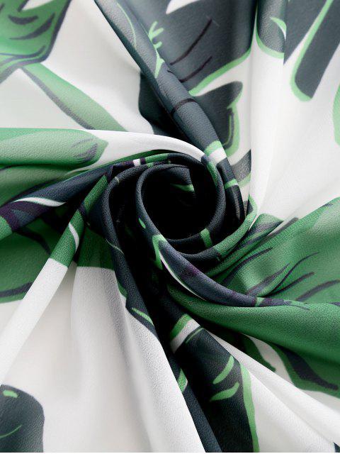 ZAFUL Принт тропических листьев Круглый Пляжный Платок - Многоцветный-A Один размер Mobile