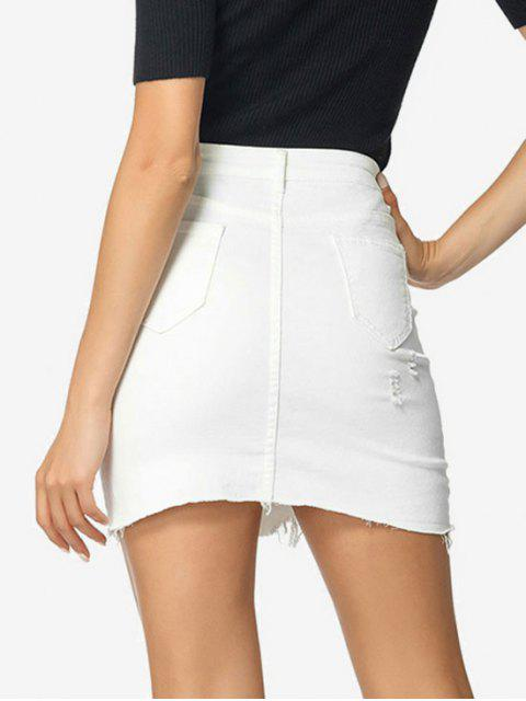 Saia jeans Bodycon - Branco S Mobile