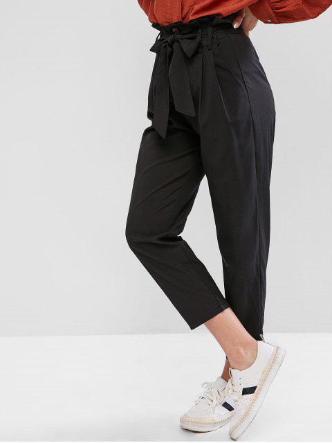Ceñido de talle alto pantalones rectos - Negro XL Mobile