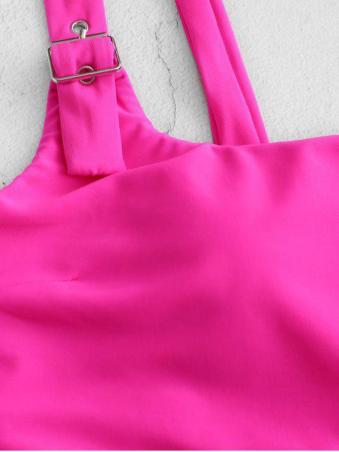 ZAFUL hebilla acolchada de Control de Abdomen Tankini del traje de baño - Rosa Roja 2XL Mobile