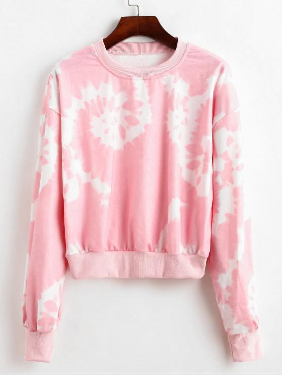 Sweat-shirt Court Teinté - Rose Cochon M