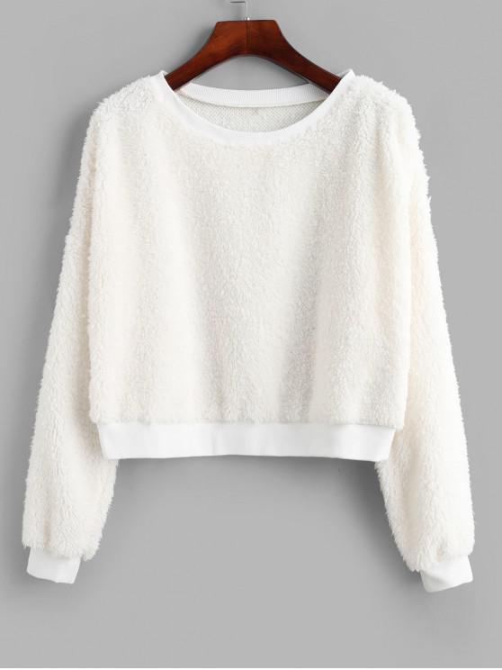 ZAFUL Sweat-shirt Court à Goutte Epaule - Blanc XL