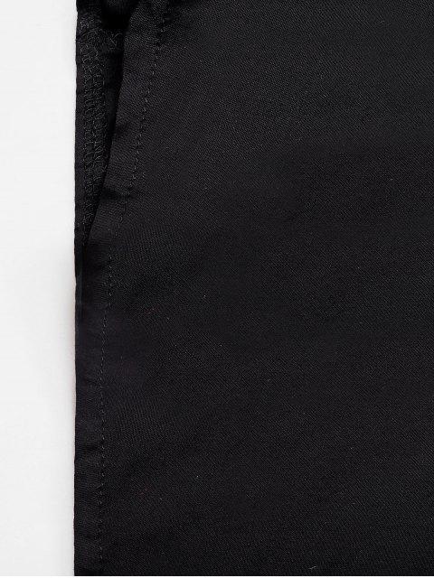 Mini Robe Ligne A Nouée Découpée - Noir M Mobile