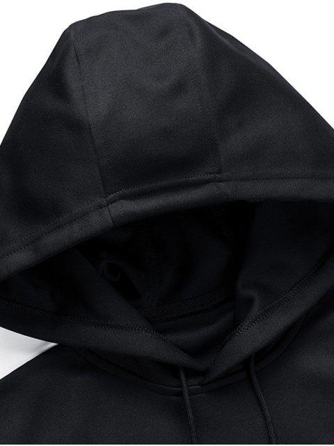 Sweat à Capuche en Couleur Contrastée Jointive - Noir XL Mobile