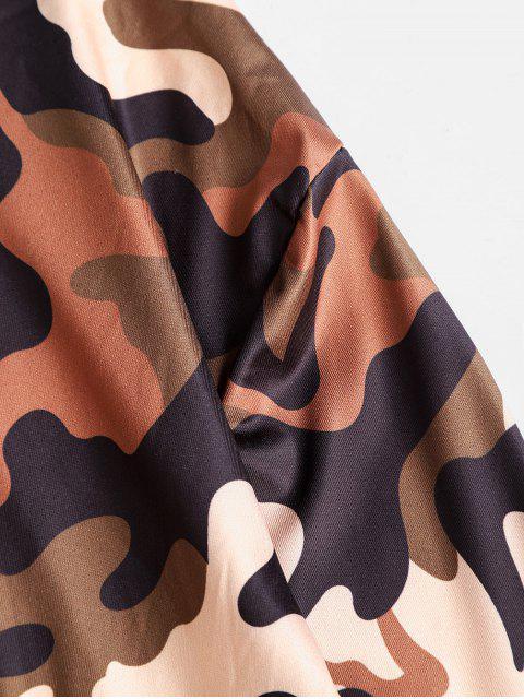 Ensemble de Sweat à Capuche Court Camouflage et de Short Deux Pièces - Multi-A M Mobile
