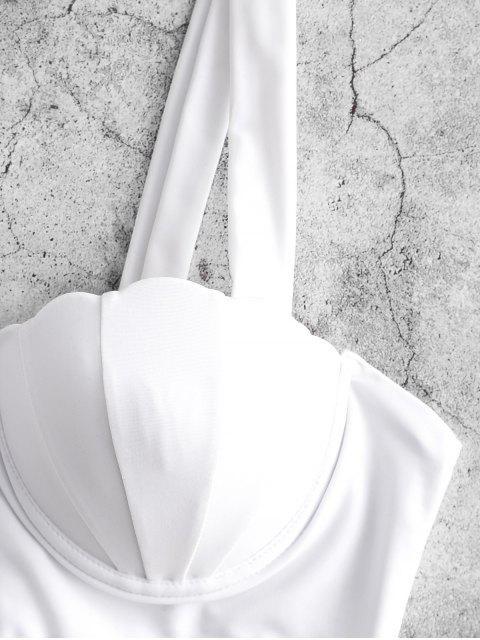 ZAFUL Haut de Bikini Sirène à Lacets - Blanc Lait S Mobile
