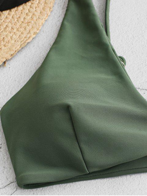 ZAFUL Biquíni de Perna Alta com Fechamento Frontal - Verde de Camuflagem M Mobile