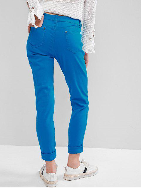 unique Mid-rise Skinny Pants - DODGER BLUE XS Mobile