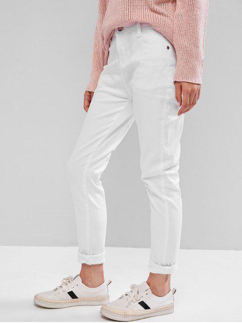 Pantalones pitillo de tiro medio - Blanco XS Mobile