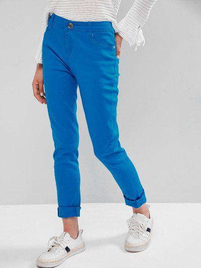 Mid-rise Skinny Pants - Dodger Blue Xs