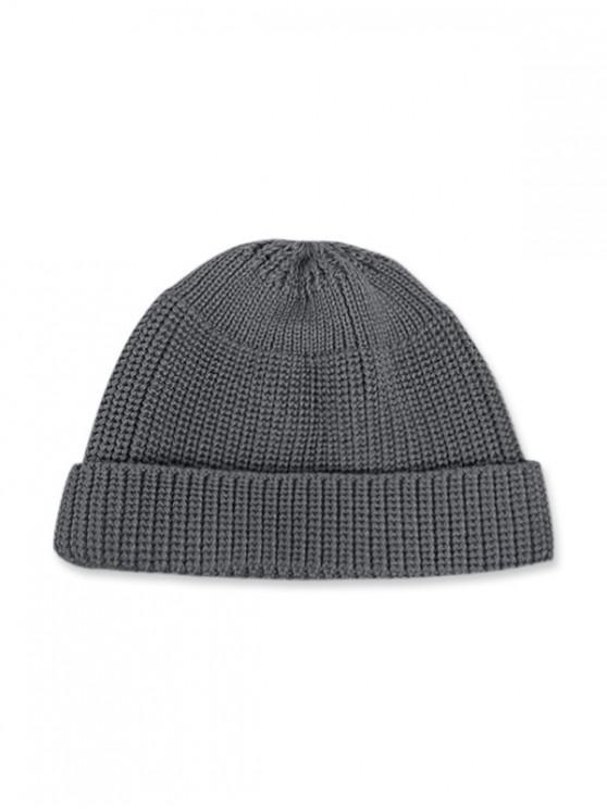 หมวกทรงกลมถักทอลำลองในช่วงฤดูหนาว - สีเทา