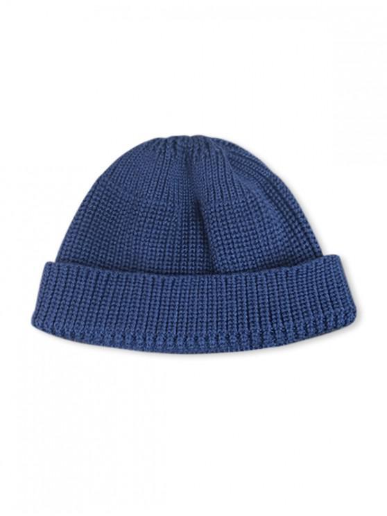 หมวกทรงกลมถักทอลำลองในช่วงฤดูหนาว - ฟ้าน้ำเงิน