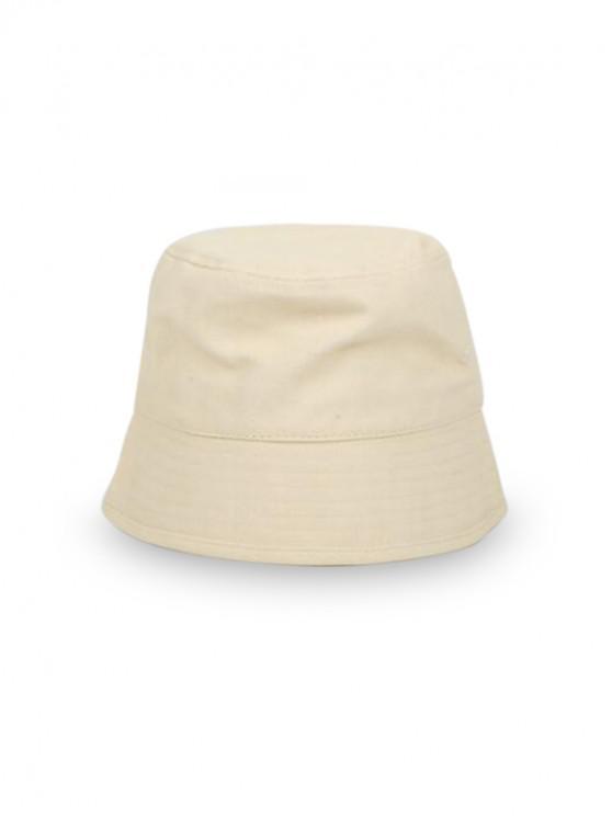 Chapeau Seau de Pêcheur Rétro pour Extérieur Style Japonais - Beige