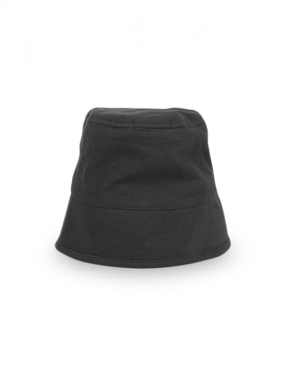 women's Japanese Style Fisherman Retro Outdoor Bucket Hat - BLACK