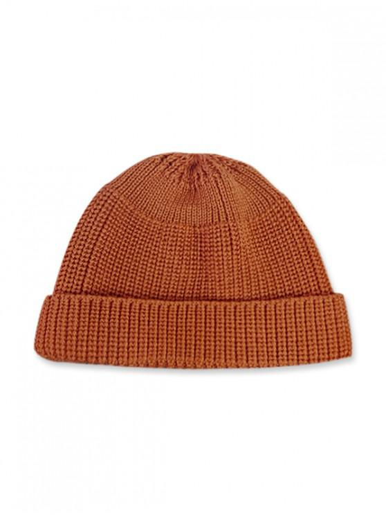 Casual Soft Top Knitted Weaving Winter Soft Hat - Mandarina