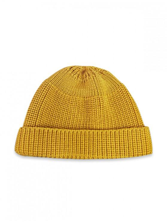 Casual Soft Top Knitted Weaving Winter Soft Hat - Amarillo