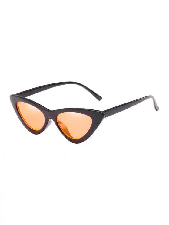 affordable Unisex Triangle UV Resistant Outdoor Stylish Sunglasses - PUMPKIN ORANGE