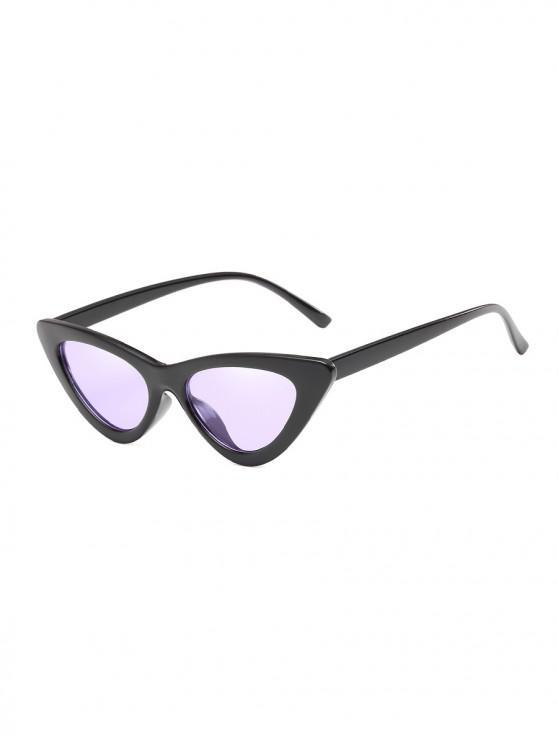 online Unisex Triangle UV Resistant Outdoor Stylish Sunglasses - MAUVE