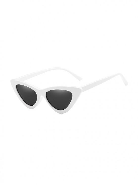 new Unisex Triangle UV Resistant Outdoor Stylish Sunglasses - WHITE