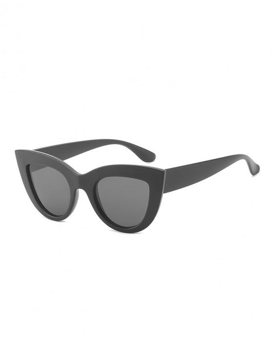 latest Vintage Catty Eye Anti UV Sunglasses - BLACK
