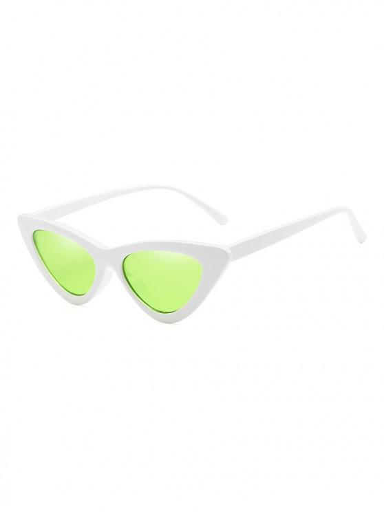 fancy Unisex Triangle UV Resistant Outdoor Stylish Sunglasses - MINT GREEN