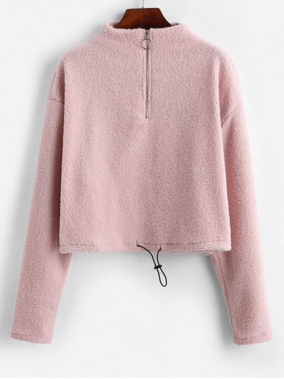 Sweat-shirt Fourré à Demi-Zip - Cerisier Rose L