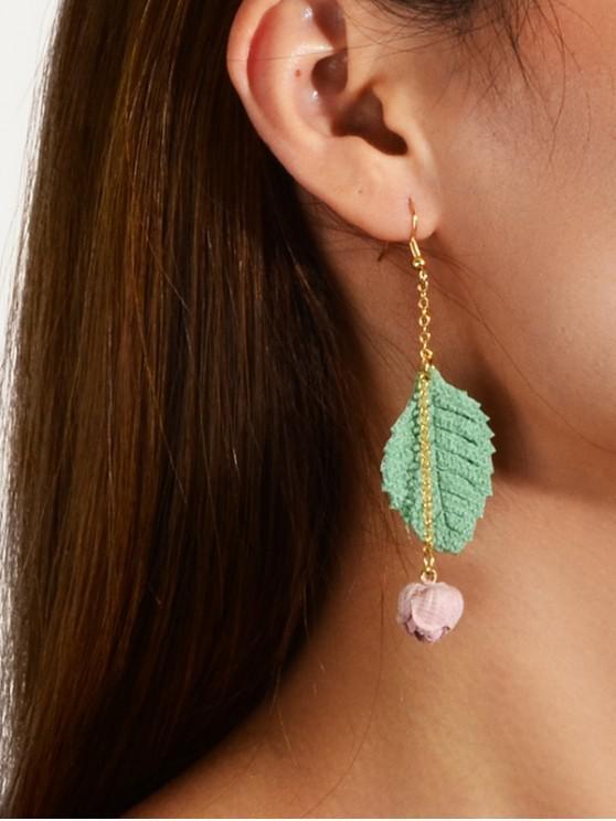 buy Alloy Leaf Floral Drop Earrings - HAZEL GREEN
