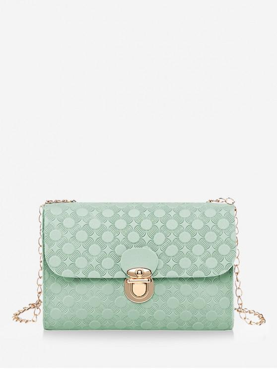 outfit Cover Hasp Embossed Chain Shoulder Bag - PALE BLUE LILY