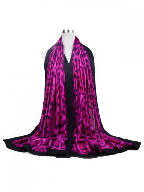 sale Leopard Printed Long Scarf - ROSE RED