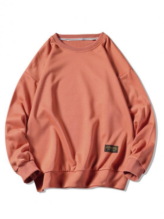 womens Graphic Printed Casual Fuzzy Sweatshirt - HALLOWEEN ORANGE L