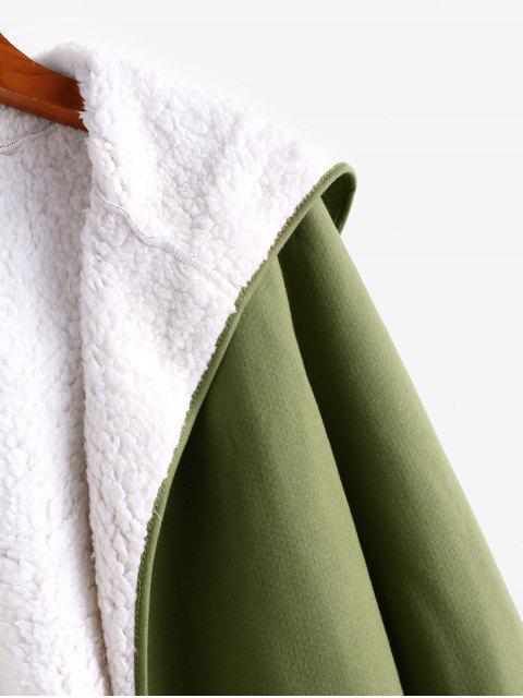 Abrigo con Capucha de Piel - Ejercito Verde L Mobile