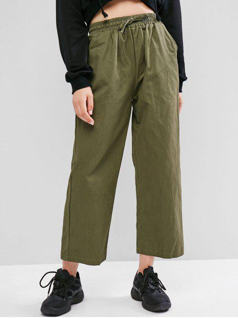 Pantalones anchos de bolsillo con cordón - Verde Camuflaje XL Mobile