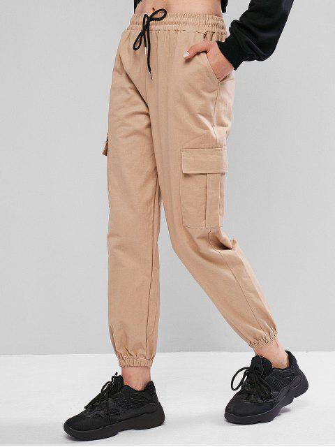 Pantalones jogger de bolsillo con cordón - Tan M Mobile